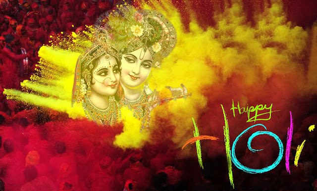 Happy Holi Radha Krishna Wallpaper 2017