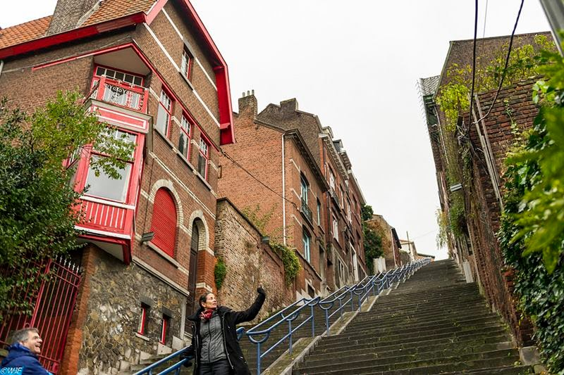 Stairs of the Montagne de Bueren Midpoint.