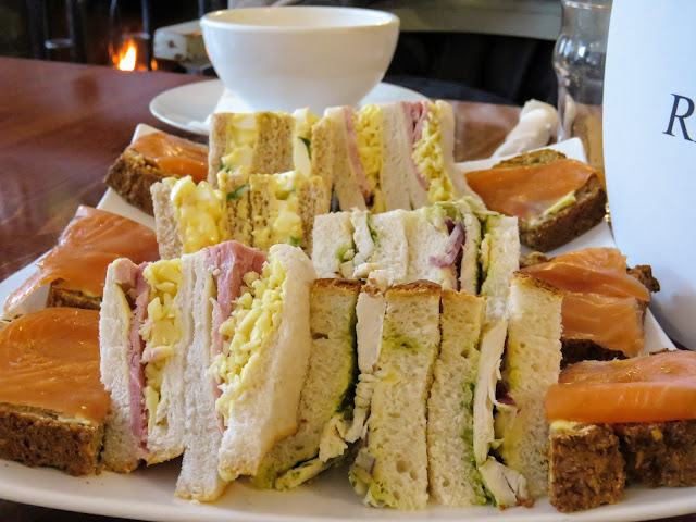 What to eat in West Cork Ireland: Sandwiches stuffed with local ingredients at Emmet's Hotel in Clonakilty