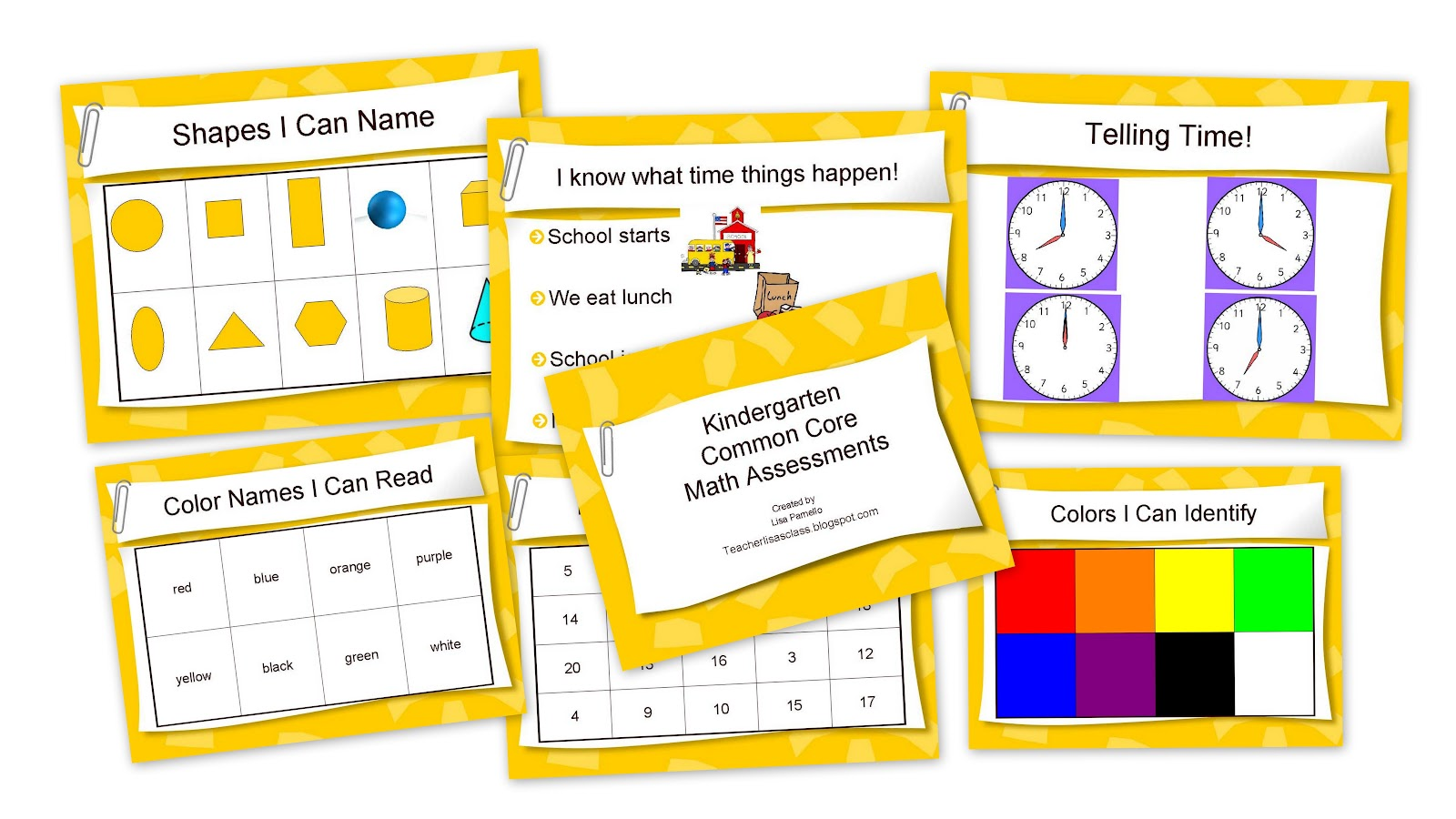 The Lower Elementary Cottage Kindergarten Common Core Math Assessment