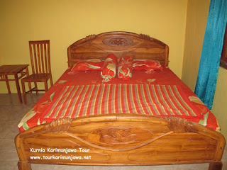 tempat tidur kamar homestay