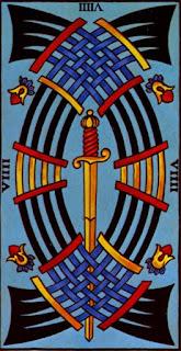 le neuf d'épée à l'envers