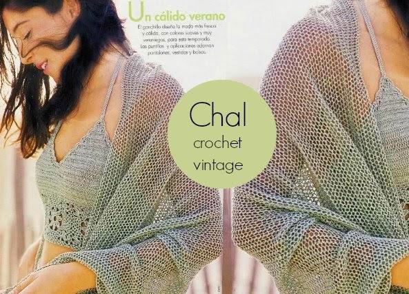 Chal de Crochet Vintage
