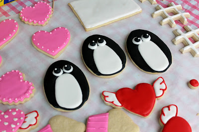 Penguin Icing A Cake Clipart