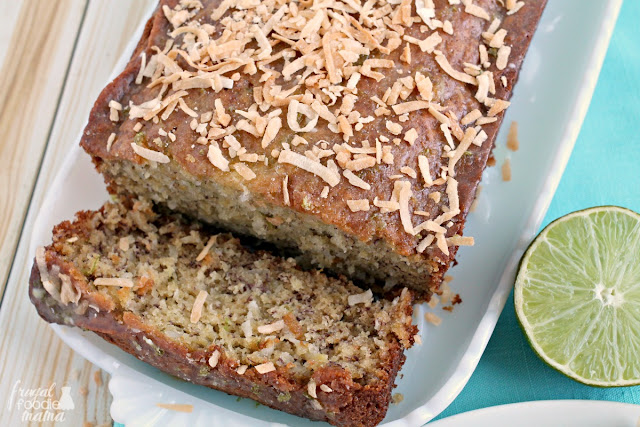 This Lime in the Coconut Banana Bread is the perfect combination of sweet & tart thanks to creamy coconut and a hint of fresh lime.