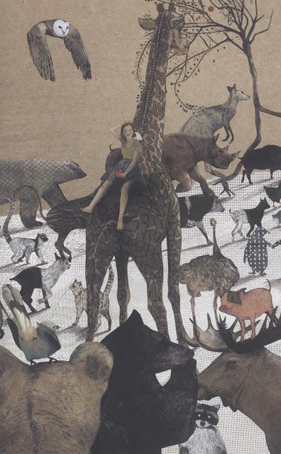 Ilustración de la ilustradora belga Kaatje Vermeire para el libro La Pregunta del Elefante
