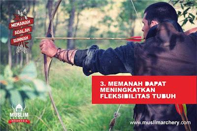memanah dapat melatih koordinasi seluruh bagian tubuh