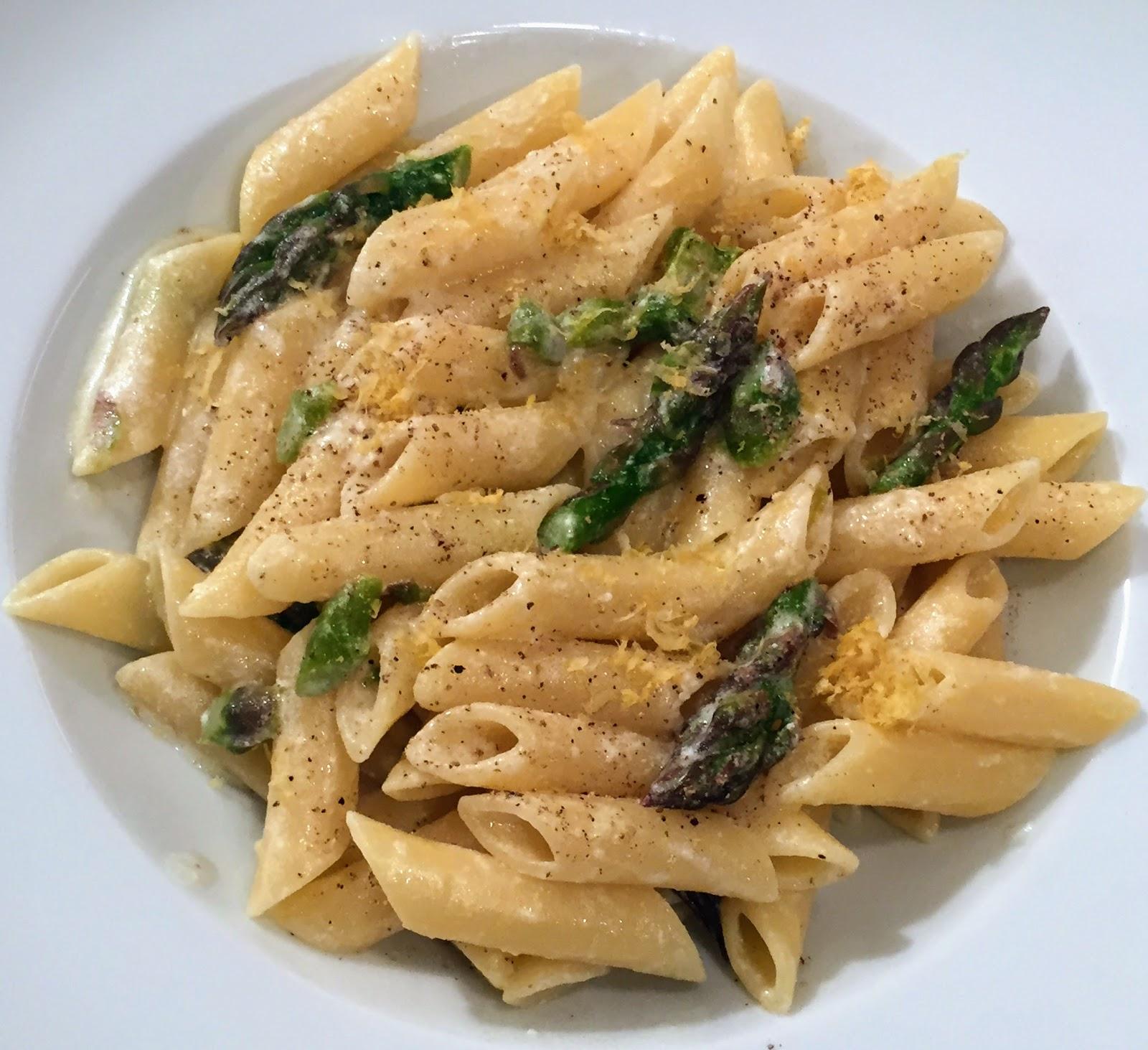 Manuela ai fornelli: Pasta asparagi, limone e formaggio di capra