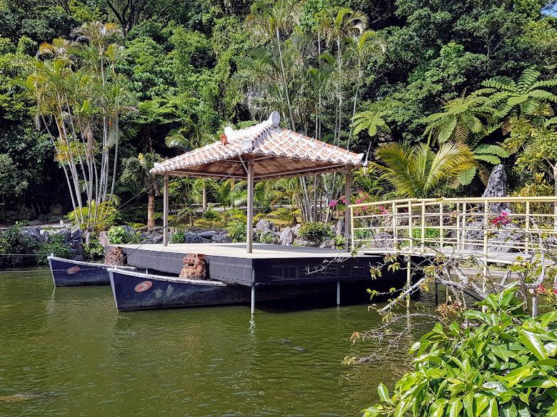 琉球村內的湖造景