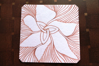 Ruutz zentangle sepia