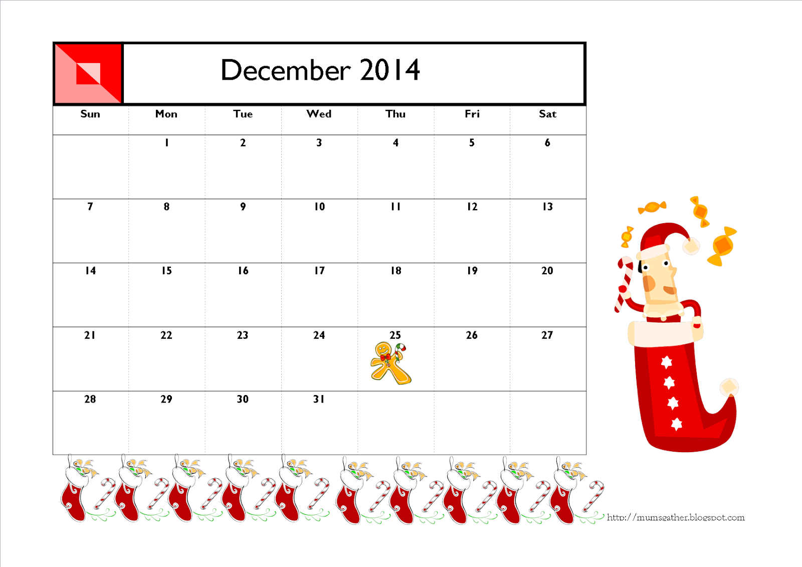 Christmas Calendar 2014 : December christmas calendar search results