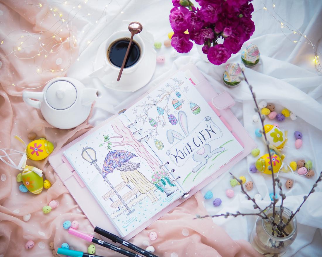 Goodbye April - kwietniowy szał nowościowy - pielęgnacja, kolorówka, sprzęt, nowe tła i bullet journal na maj