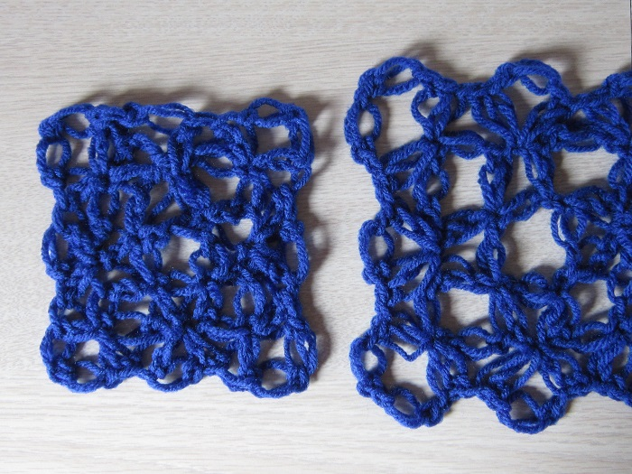 crochet, gauge, love knot, tutorial, how to