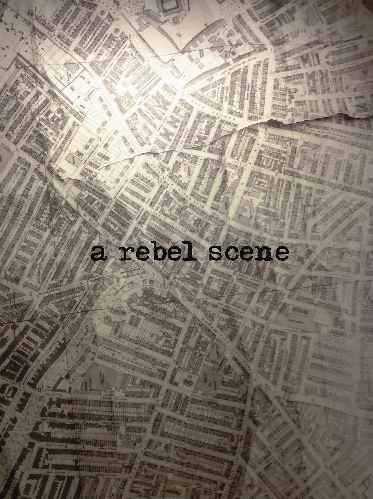 Photo of 'A Rebel Scene' mural.
