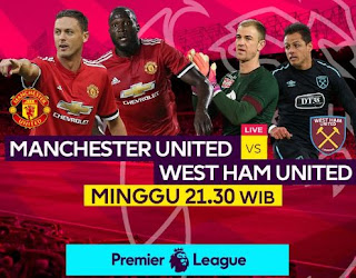 Manchester United vs West Ham Minggu 13/8/2017 Live MNCTV