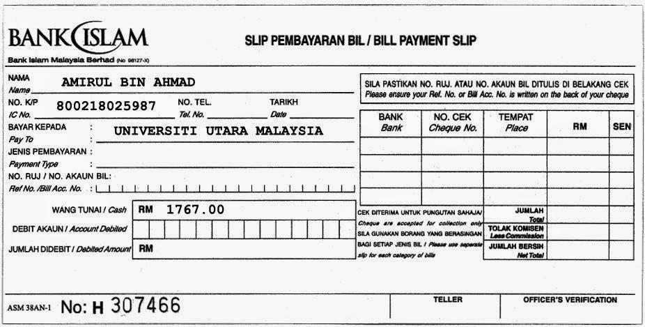 bimb bill payment slip uum
