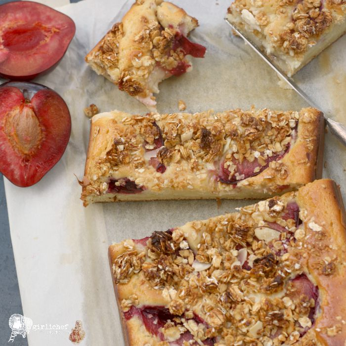 Yogurt Plum Coffee Cake