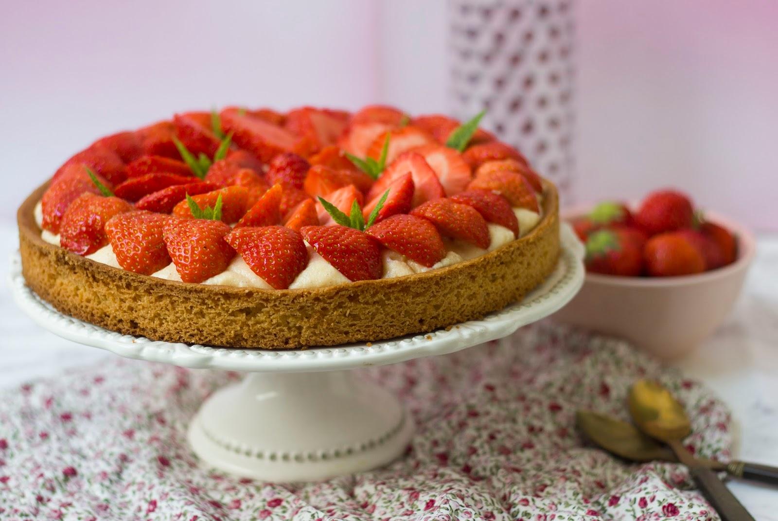 Recette tarte aux fraises sur sablé breton