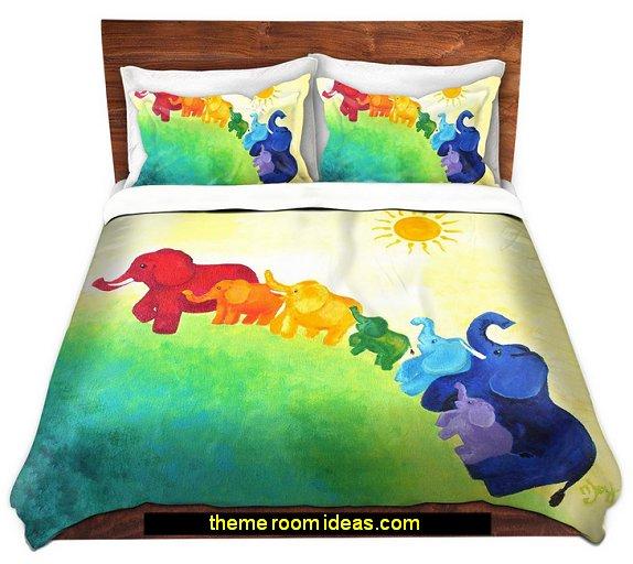 rainbow bedding rainbow bedrooms - rainbow bedroom decorating ideas - rainbow decor - rainbow wall murals - rainbow wall decals - rainbow wallpaper - rainbow bedding - rainbow bedroom ideas - Rainbow girls rooms - rainbow room decor - clouds wallpaper - clouds wall decals