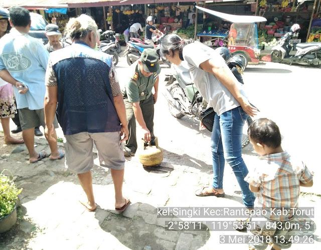 Melihat Api Menyembur, Pedagang Pasar Sore Rantepao Histeris Menyelamatkan Diri
