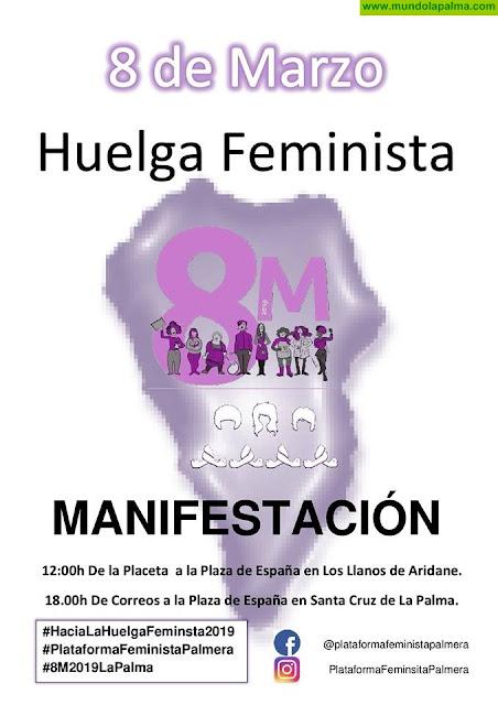 Nueva Canarias apoya la huelga feminista y se une a las movilizaciones del 8 de marzo