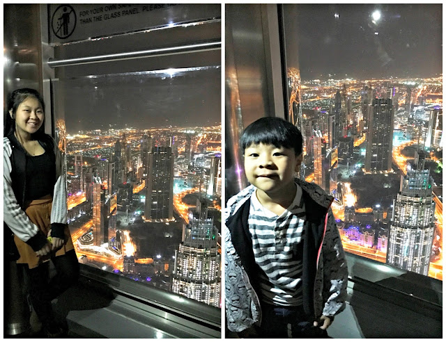 Mica and Prince at Burj Khalifa observation deck
