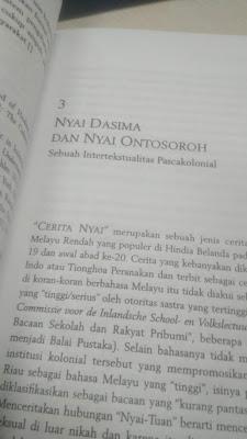Nyai Dasima dan Nyai Ontosoroh: Sebuah Refleksi