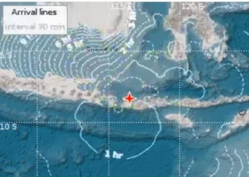Gempa Bumi Di Lombok 7 Sr Bmkg Berpotensi Tsunami Dan Kantor Ikut