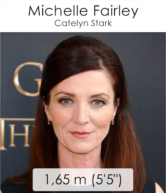 Michelle Fairley (Catelyn Stark) 1.65 m