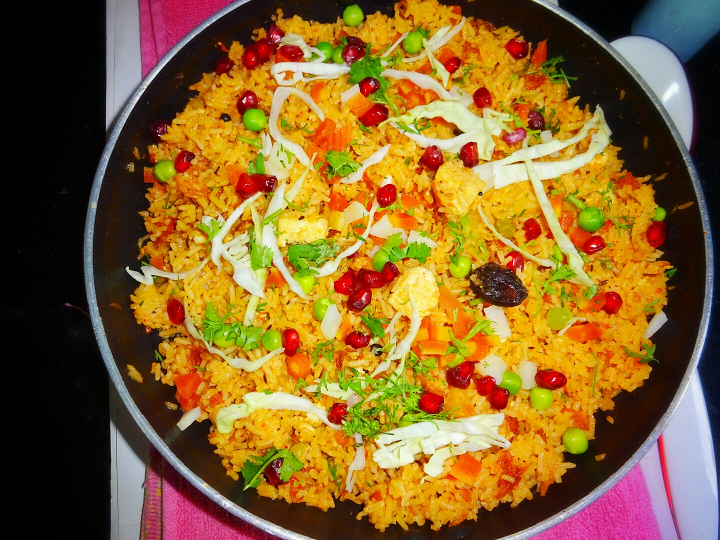 Let's start with step by step pictorial of Paneer Coconut Milk Pulao