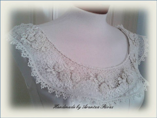 Irish crochet collar