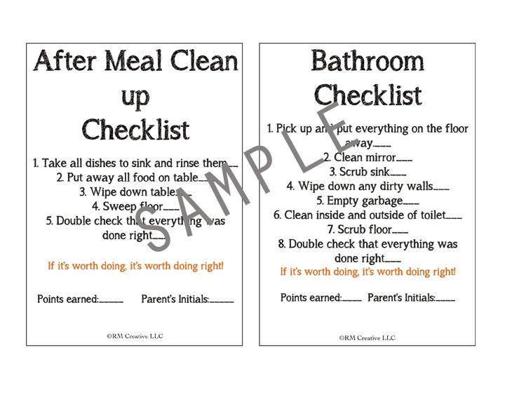 I heart chore charts CHORE CHARTS FOR KIDS 8-18