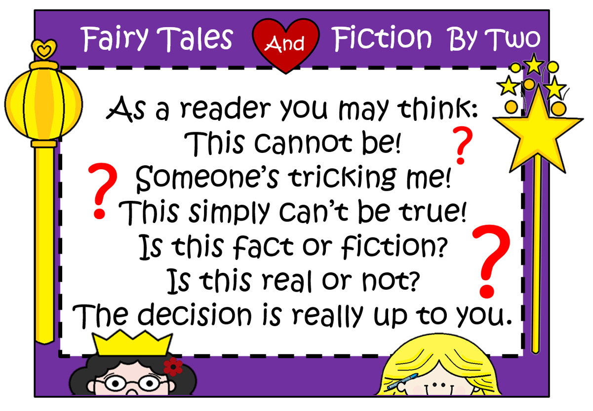 Fairy Tales And Fiction By 2 Kindergarten Fact Or Fiction
