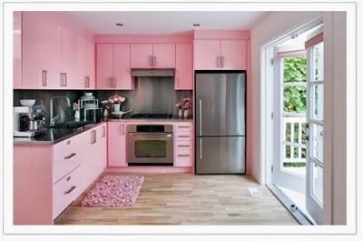 Decoración cocina rosada