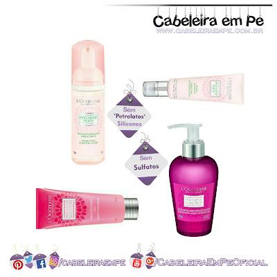 Linha Pivoine Flora – L´Occitane - Espuma para lavar o rosto, um fluído Matificante, um gel esfoliante e um demaquilante em gel livres de sulfatos, petrolatos e silicones