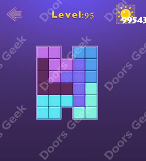 Cheats, Solutions, Walkthrough for Move Blocks Easy Level 95