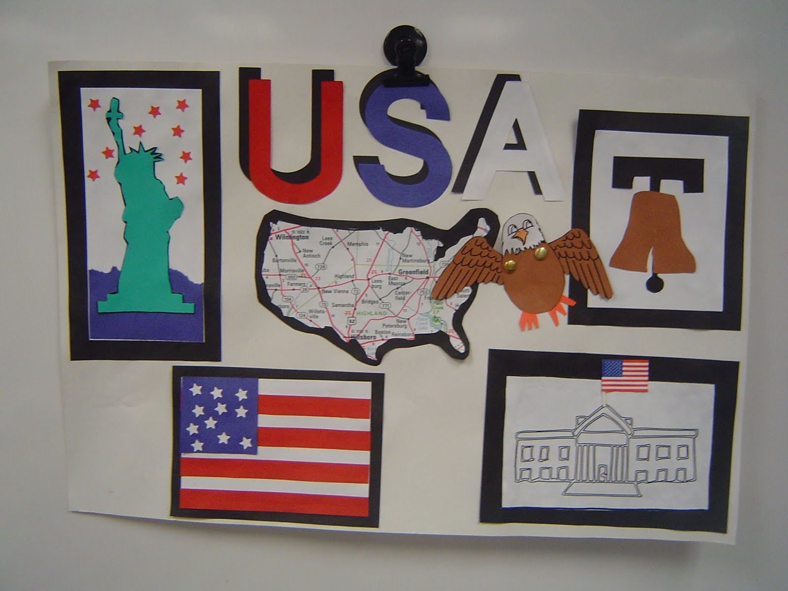Mrs T S First Grade Class American Symbols Poster