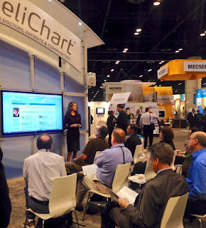 HIMSS trade show presenter and presentation