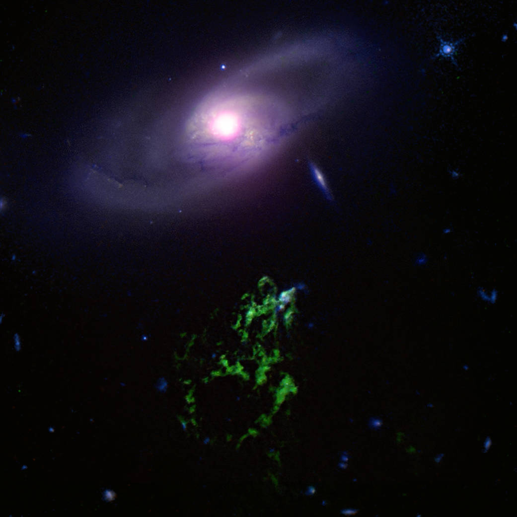 A black hole story told by a cosmic blob and bubble - The ...