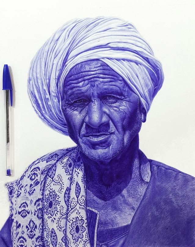 Increíbles retratos pintados a bolígrafo.
