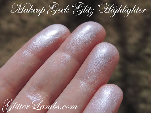Makeup Geek Glitz Highlighter Review  Makeup Eyeshadow Swatches  by GlitterLambs.com