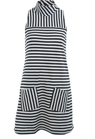 Caroline Flack, Miss Selfridge, Monochrome, Shift Dress, Striped, 60's