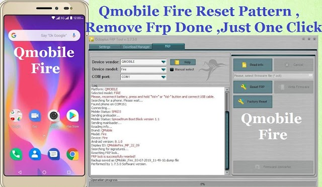 How to remove frp lock qmobile
