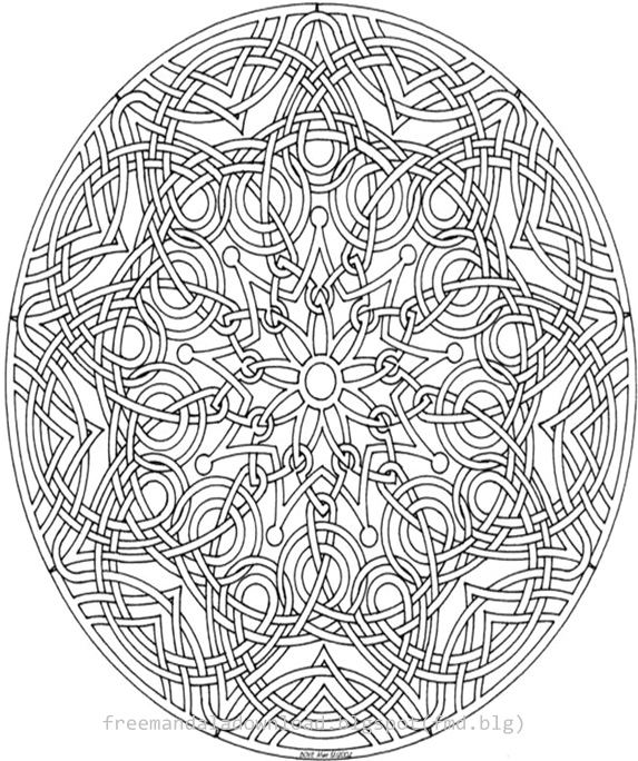 Erwachsene Färbung Farbe Bücher kostenlos - Free Mandala
