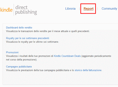Monitorare vendite libro ebook Amazon Kindle