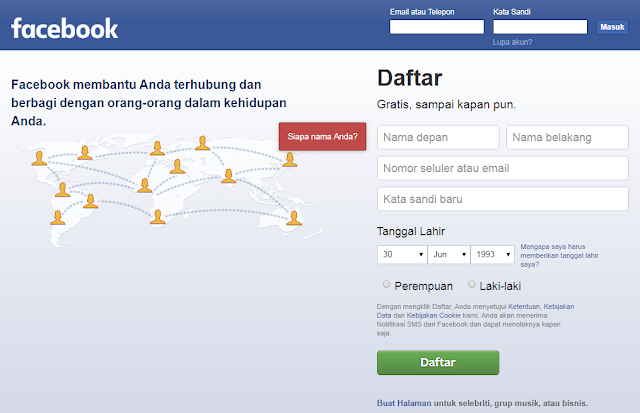 Cara Daftar Facebook Dengan Cepat Memakai Email Dan No Hp