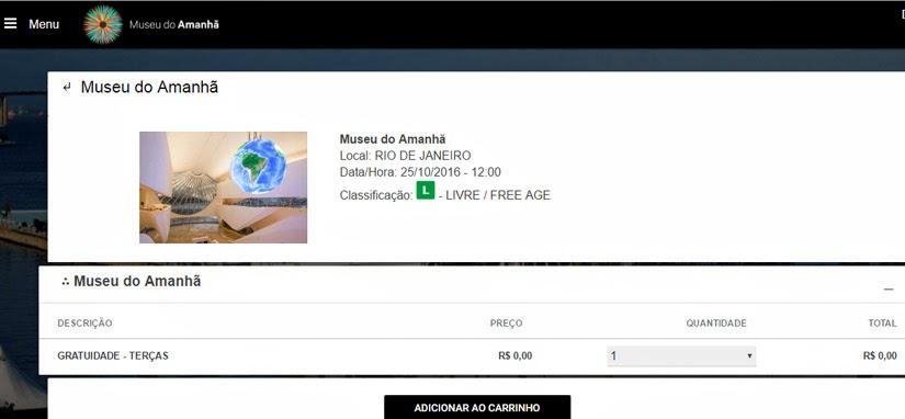 Ingressos - O que fazer no Museu do Amanhã, Rio de Janeiro
