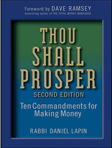 "Cover shot of the book ""Thou Shall Prosper"" by Rabbi Daniel Lapin"
