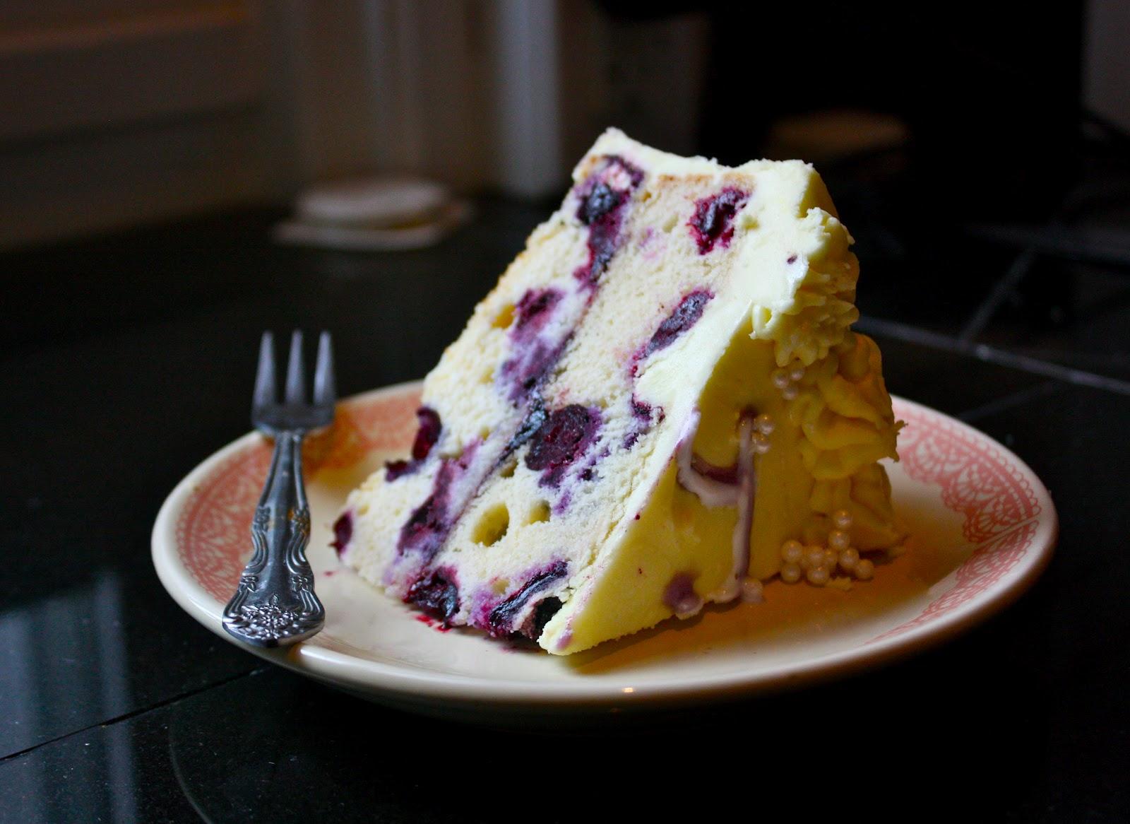 Lemon Blueberry Sunshine Cake