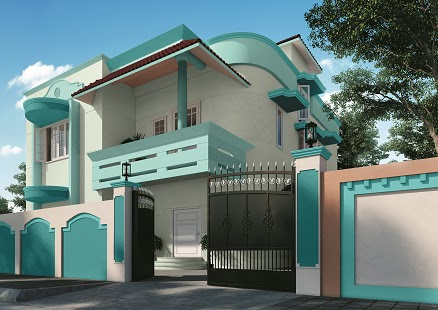 Art scene india home exteriors colour palettes for a for Outside paint colours for house in india